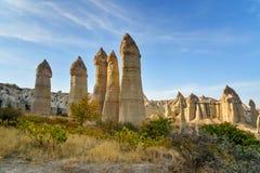 Formation de roche en vallée d'amour Cappadocia La Turquie Image stock