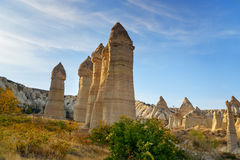 Formation de roche en vallée d'amour Cappadocia La Turquie Photo libre de droits