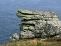 Formation de roche, extrémité de cordons image libre de droits