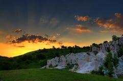 Formation de roche intéressante Photos stock