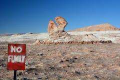 Formation de roche principale de dinosaure La Luna de Valle De ou vallée de lune San Pedro de Atacama chile Images libres de droits