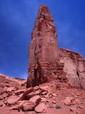 Formation de roche rouge dans la vallée de monument Images stock
