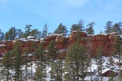 Formation de roche rouge dans le Colorado Image libre de droits
