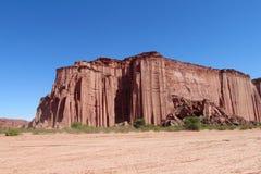 Formation de roche rouge de canyon de Talampaya photos stock