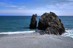 Formation de roche sur la plage Image stock