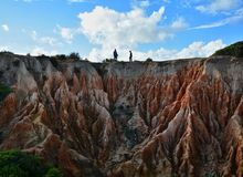 Formation de roches d'Algarve Image stock