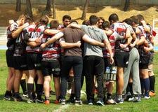 Formation de rugby, Toledo, Espagne, le 14 avril 2018 image libre de droits