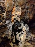Formation de Speleothem dans la caverne de Baradla, Hongrie Images libres de droits