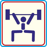 Formation de sport du monde, icône, illustrations Photos stock