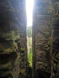 Formation de tours de roche de Prachov dans la République Tchèque Image libre de droits