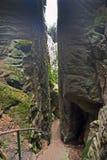 Formation de tours de roche de Prachov dans la République Tchèque Photographie stock libre de droits