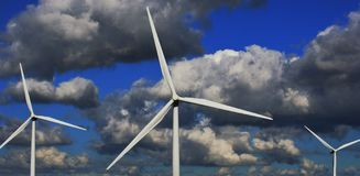 Formation de turbine de vent photographie stock libre de droits