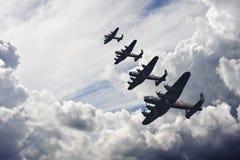 Formation de vol britannique de cru de la deuxième guerre mondiale photographie stock libre de droits