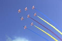 Formation de vol dans le ciel Photos libres de droits