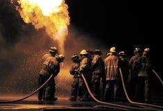 Formation du feu de propane images stock
