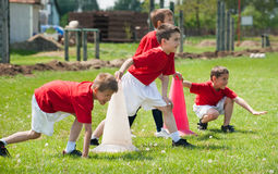 Formation du football Photographie stock