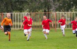 Formation du football pour des enfants Images libres de droits