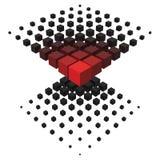 formation du style 3d à partir de grand à de plus petits cubes Illustration Stock