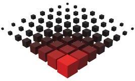 formation du style 3d à partir de grand à de plus petits cubes Illustration Libre de Droits