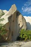 Formation en pierre blanche dans Cappadocia Images libres de droits