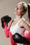 Formation féministe de femme, boxe Image libre de droits
