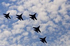 Formation flight royalty free stock photo