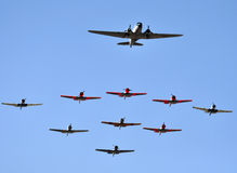Formation flying. Royalty Free Stock Images