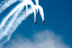 Formation flying in air show Royalty Free Stock Photography