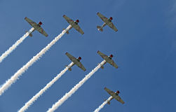 Formation flying at EAA AirVenture at Oshkosh Royalty Free Stock Images