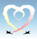 Formation flying heart. An illustration of jets leaving a vapour trail forming a heart Stock Images