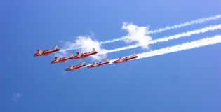 Formation Flying - RAAF Roulettes Stock Photos