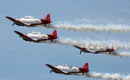 Formation flying at Sun n Fun Royalty Free Stock Images