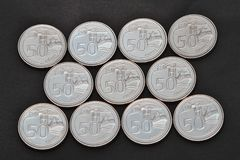 Singapore coins Stock Image