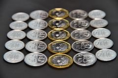 Singapore coins Royalty Free Stock Images