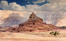 Formation géologique en stationnement de Timna, Israël Photographie stock libre de droits