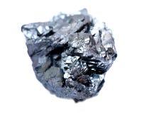Formation grise métallique lumineuse et brillante unique d'hématite à partir de l'Utah photo libre de droits