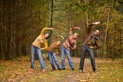 Formation heureuse de famille Photos stock