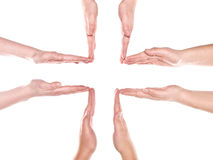 Formation of human hands Royalty Free Stock Image
