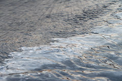 Formation of ice on the river Royalty Free Stock Image