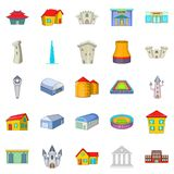 Formation icons set, cartoon style Royalty Free Stock Images