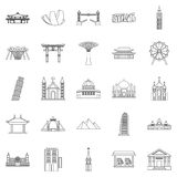 Formation icons set, outline style. Formation icons set. Outline set of 25 formation vector icons for web isolated on white background Royalty Free Stock Images