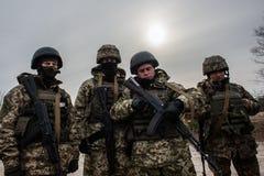 Formation médicale militaire et tactique images libres de droits