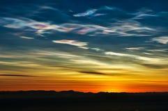 Formation Nacreous de nuage photos stock