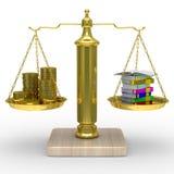 Formation payée. Image 3D d'isolement Photographie stock libre de droits