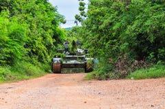 Formation pratique d'armée thaïlandaise Image stock