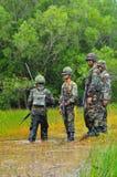 Formation pratique d'armée thaïlandaise Photographie stock