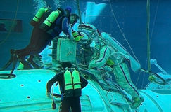 formation russe de spacewalk de hydrolab Image libre de droits
