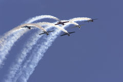Formation. From Rygge Airshow in Norway 2009 royalty free stock images
