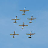 Formation of six planes Royalty Free Stock Photo