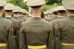 Formation of soldiers. Royalty Free Stock Photos
